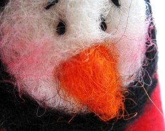 Snowman Ornament - Christmas Ornament - Wool Felt Snowman