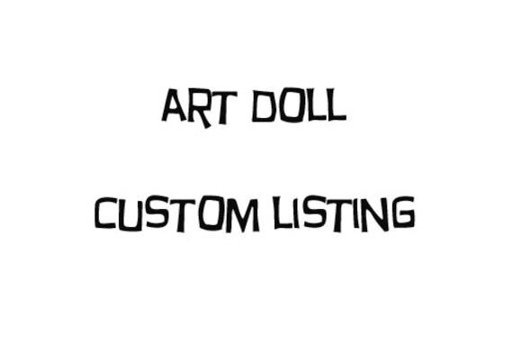 Custom Listing For Helen W.- Girl and cats art dolls