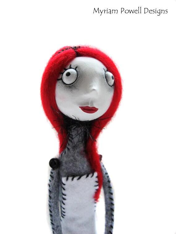 Art Doll - Goth Art Doll - Alice in Wonderland - Cloth Art Doll - Made To Order