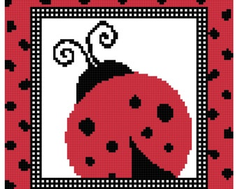 Lady Bug Red with Black Spots