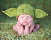 Green Yoda Baby Hat