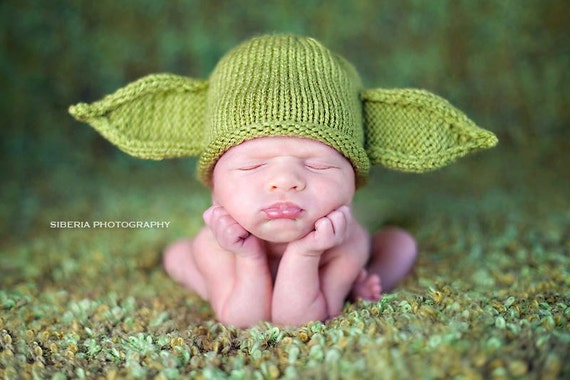 Green yoda baby hat like this item dt1010fo