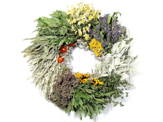 Dried Herb Wreath Kitchen Wreath Kitchen By Summersweetboutique