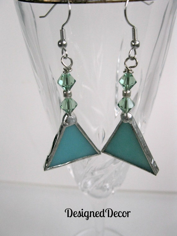 Stained Glass Dangle Earrings