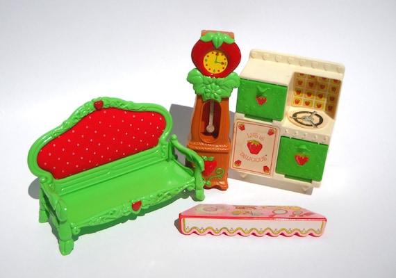Vintage Strawberry Shortcake Dollhouse Furniture