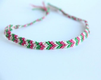 Chevron Braided Bracelet Friendship Colorful