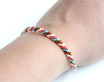 Bracelet Striped Braided Friendship Anklet