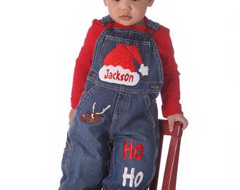 Christmas Clothing  Christmas Overalls Personalized