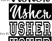 lot of 2 iron on Usher wedding shirt decal transfers