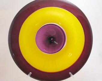 Yellow, Red, and Purple Incalmo Platter
