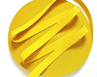 "1"" Canary Yellow Stretch Elastic Band"