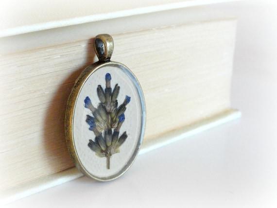 RESERVE FOR MELANIE- Lavender resin necklace-Botanical specimen- Real pressed preserved flower pendant,.lilac, purple mauve. Gift for her