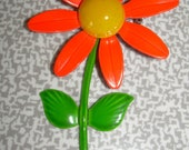 Bright Orange Flower Pin