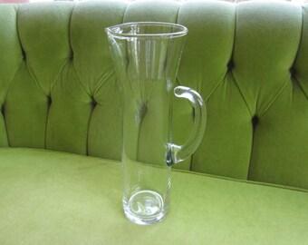 Vintage Slim Glass Pitcher