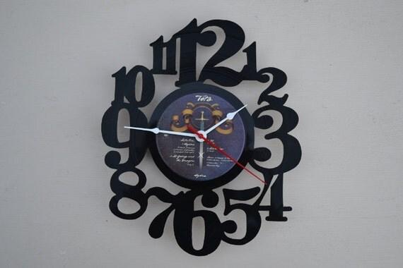 Vinyl Record Wall Clock (artist is Toto)