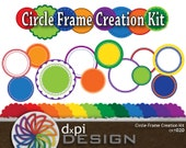 Digital Circle Frames Kit - Create Unique Printable Labels, Tags, and Frames for Scrapbooking, Cards, and Crafts - Instant Download (CKT020)