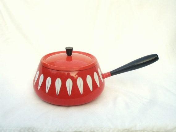 Vintage Catherineholm Flame orange fondue pot