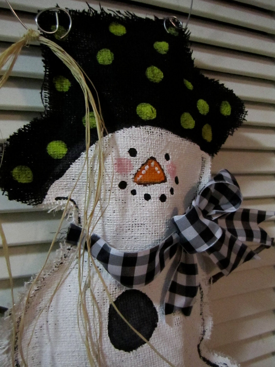 Full body snowman christmas burlap door hanger by nursejeanneg for Snowman made out of burlap