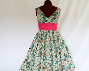 Neopolitan Custom Made Swing Dress