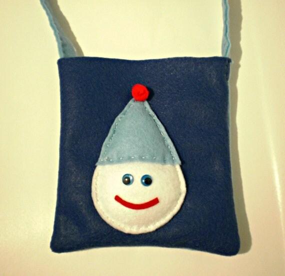 Felt Purse - Little Girls Handbag - Holiday Handbag - Snowman