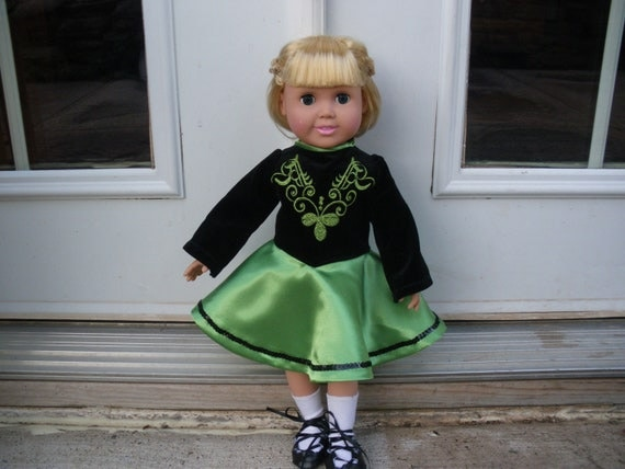 Irish dance  American Girl doll dress available to order