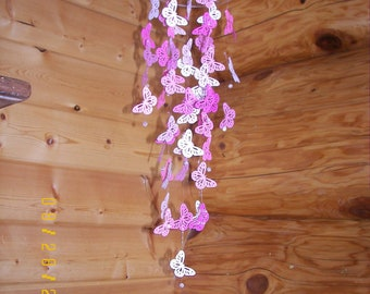Pink Delicate Butterfly Mobile