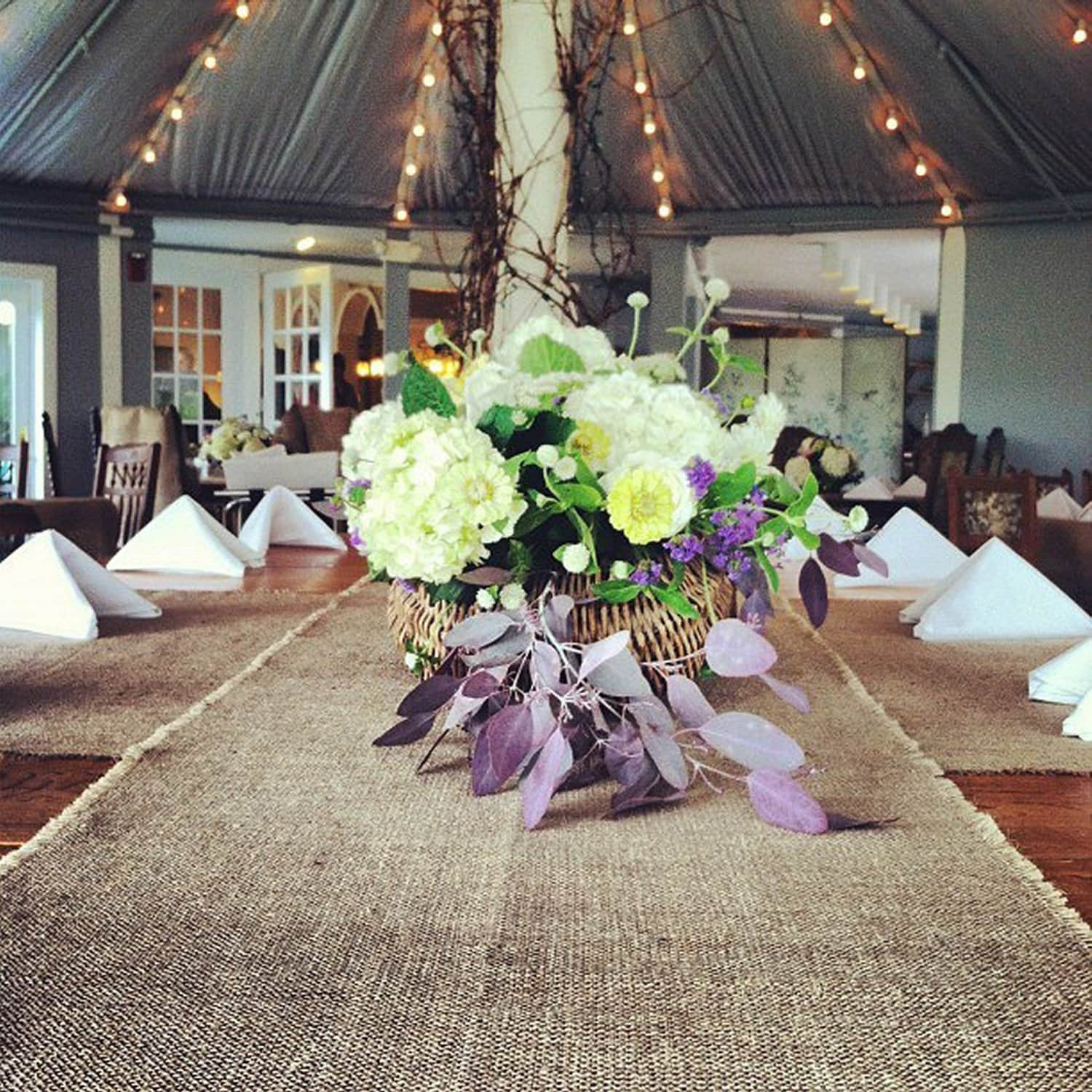 108 Long Burlap Table Runner Rustic Style Wedding Decor