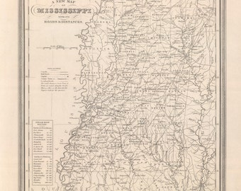 1848 Map of Mississippi
