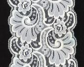 Wide WHITE Lace Scallop Sides 5 Inch Wide Trim Bridal Wedding Bride Pillows