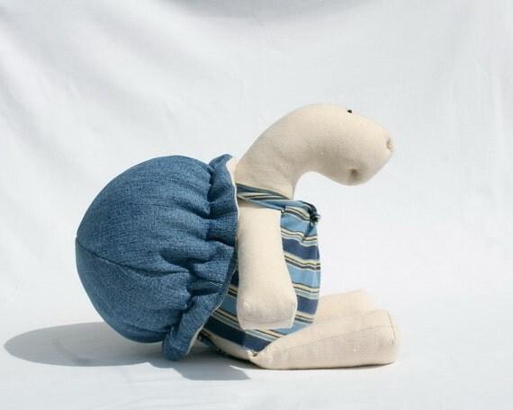Blue  Jeans Turtle stuffed toy