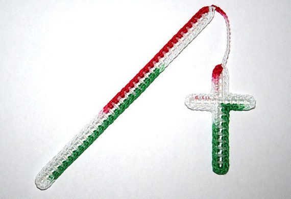 Christian Bookmark - Red, Green, and White