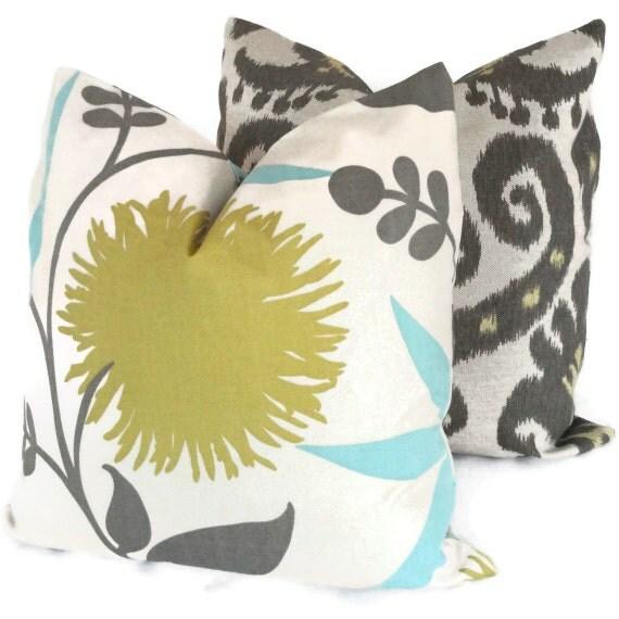 SALE - Duralee Thomas Paul Zinnia Decorative Pillow Cover 18x18, Throw Pillow, Toss Pillow, Accent Pillow, Pillow Case, Pillow cushion