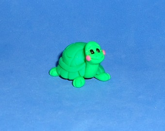 Polymer Clay Little Green Turtle