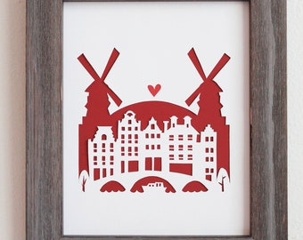 Amsterdam, Netherlands.  Personalized Gift or Wedding Gift
