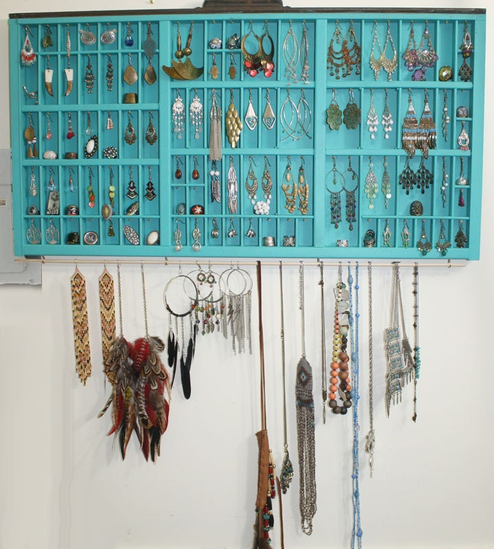Handmade Jewelry Display Made With Vintage Type by ... Unique Bracelet Displays