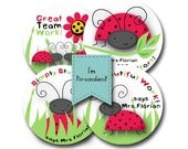LOVELY LADYBUGS Personalized stickers for Teachers