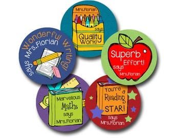 SCHOOLISH Personalized stickers for Teachers
