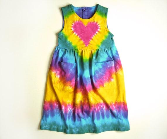 Girls Tie Dye Dress Sleeveless Tank Or By Sunflowertiedyes