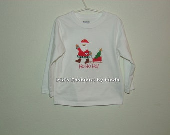 Ho Ho Ho Long Sleeve Christmas Tshirt