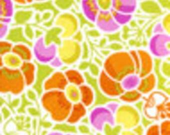36154  Erin McMorris Wildwood  Sophies Garden in Orange  color- 1 yard