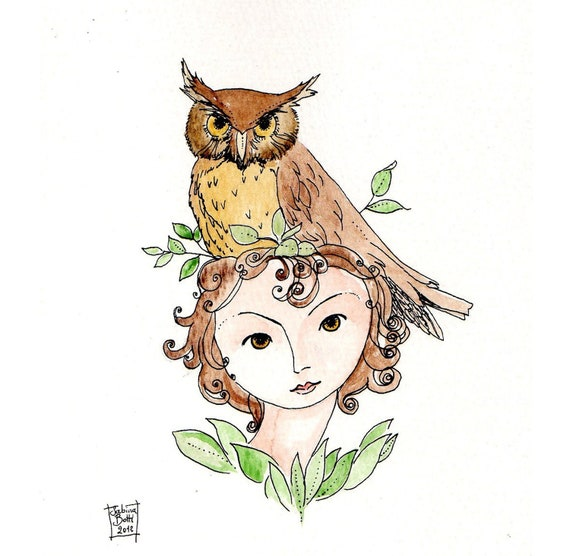 The Owl  Limited edition 8x11 print of my original painting