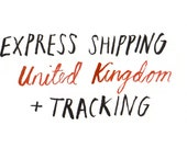 Express UK shipping with tracking