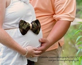 Crochet Maternity Mini BOW BAND Photography Prop Sash