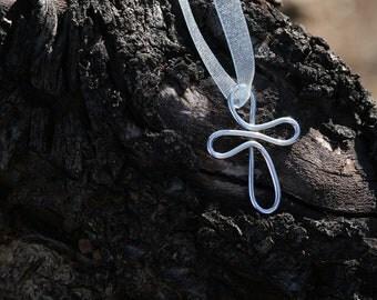 Handmade Sterling Silver Infinity Cross Pendant