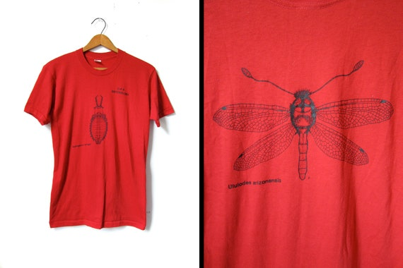 Vintage Entomology Tshirt 70s Biology Nerd - Mens Small / Womens Medium