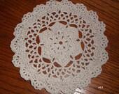Crocheted Ecru Doily (e11)