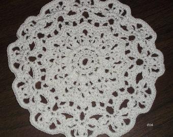 Crocheted White Doily (Item 016)