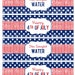 Fourth of July - Star Spangled Waters- Party  Digital  Water Bottle Labels  PRINTABLE Instant Download