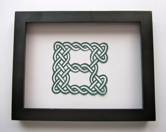 Eternity CELTIC Knots ALPHABET LETTERS in Traditional Designs Wall Art Home Décor Handmade Handcut Silhouette Paper Cutout One Of A Kind