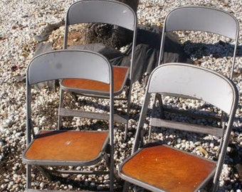 Clarin Mfg Co. Metal Folding Child Chair. 6 Child Toddler Size Avail. and 2 Medium Avail.  Musical Chairs. Industrial Chairs